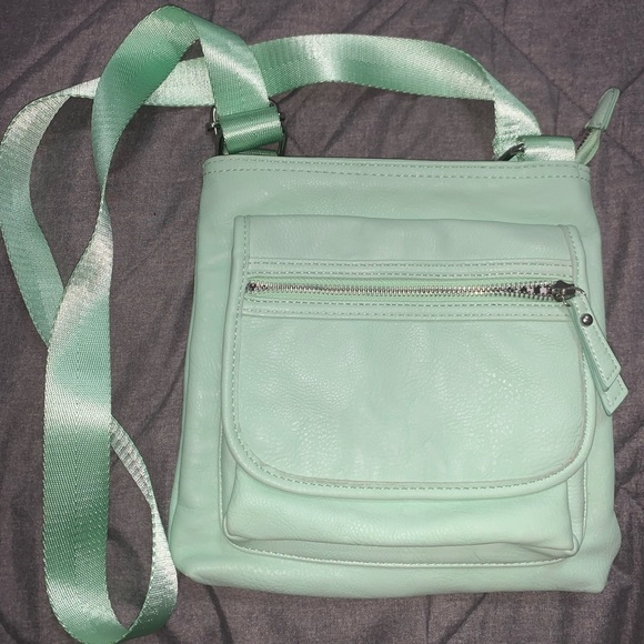 Charming Charlie Green Shoulder/Crossbody bag